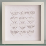 Personalised Text Hearts F..
