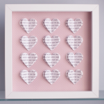 Personalised Text Hearts B..