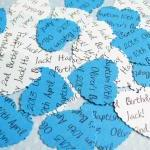 100 x Personalised Blue Con..