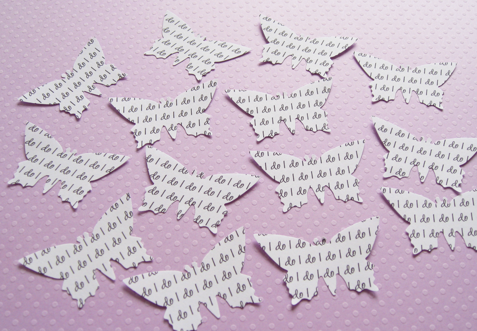 450 x 2inch Personalised Text Butterfly Confetti - Invitations, Table Decor, Favors, Parties