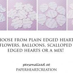 1000 Personalised Text Confetti - Choice of 4 shapes - Great for Weddings, Invites, Decor, Favours, Special Occassions