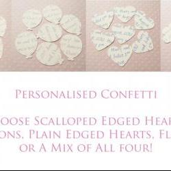 500 Ivory Cream Custom Heart Confetti - Great for Weddings, Invitations, Parties, Table Decor, Favours