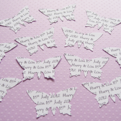 150 x 2 inch Personalised Custom Butterfly Confetti - Great for Weddings, Invites, Table Decor, Favours, Parties