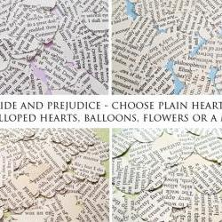 250 x Pride and Prejudice Confetti - Choice of 4 shapes - Great for Weddings, Invites, Decor, Favours