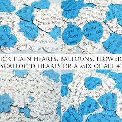 1000 x Personalised Blue Confetti - 4 Shapes to Choose - Great for Baby Showers, Christenings, Birthdays
